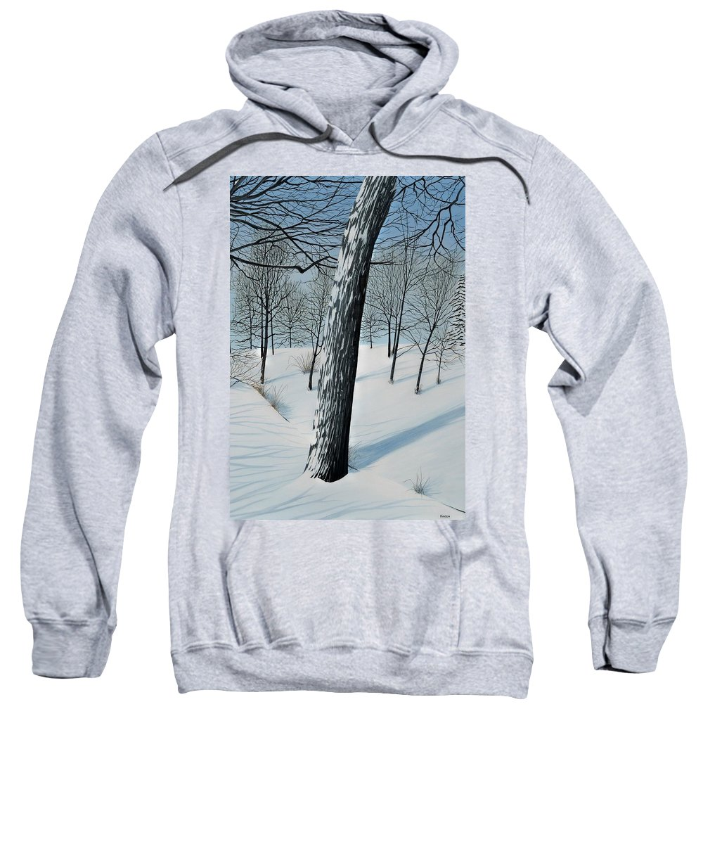 Landscape Sweatshirt featuring the painting Winter Maple by Kenneth M Kirsch