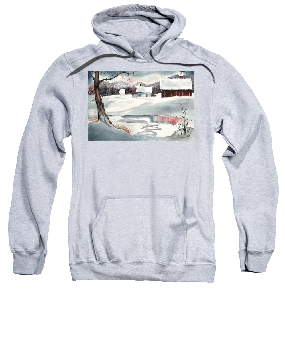 Ski Trails Sweatshirt featuring the painting Winter Paradise by Carol Helene