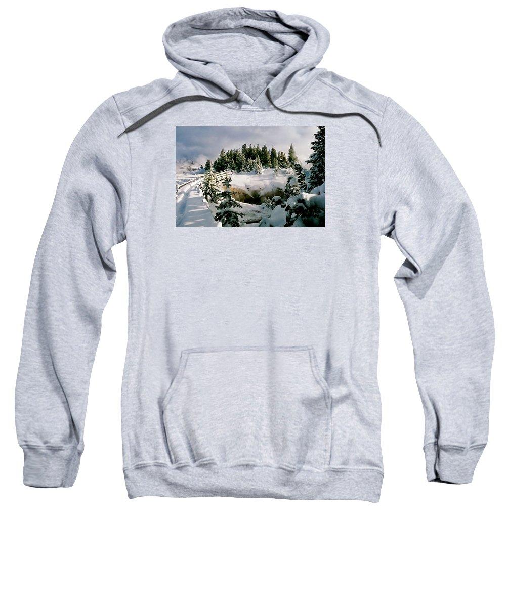 Winter Sweatshirt featuring the photograph Winter Path by Martin Massari