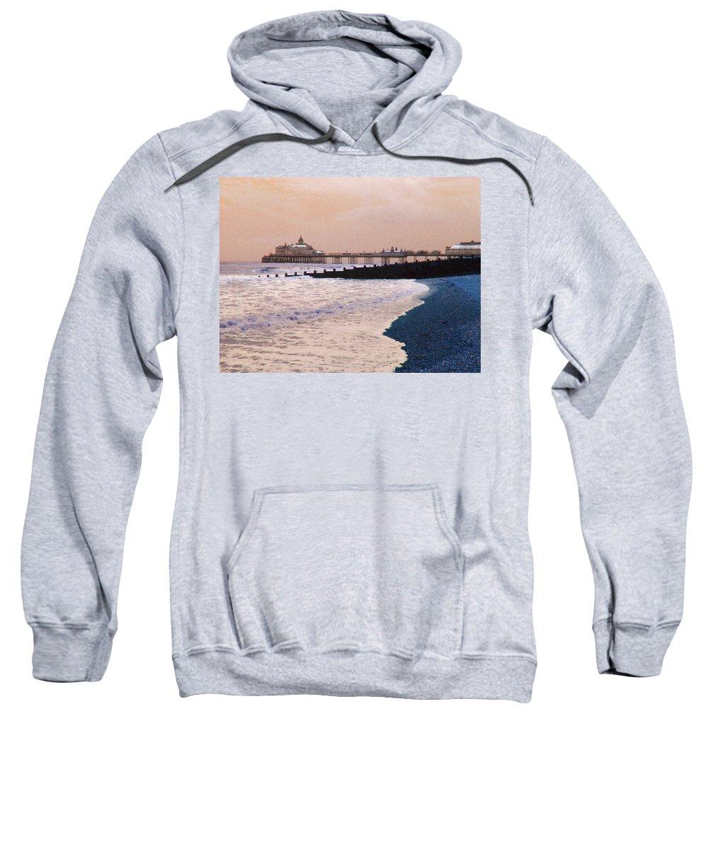 Winter Sweatshirt featuring the photograph Winter Pier by Heather Lennox