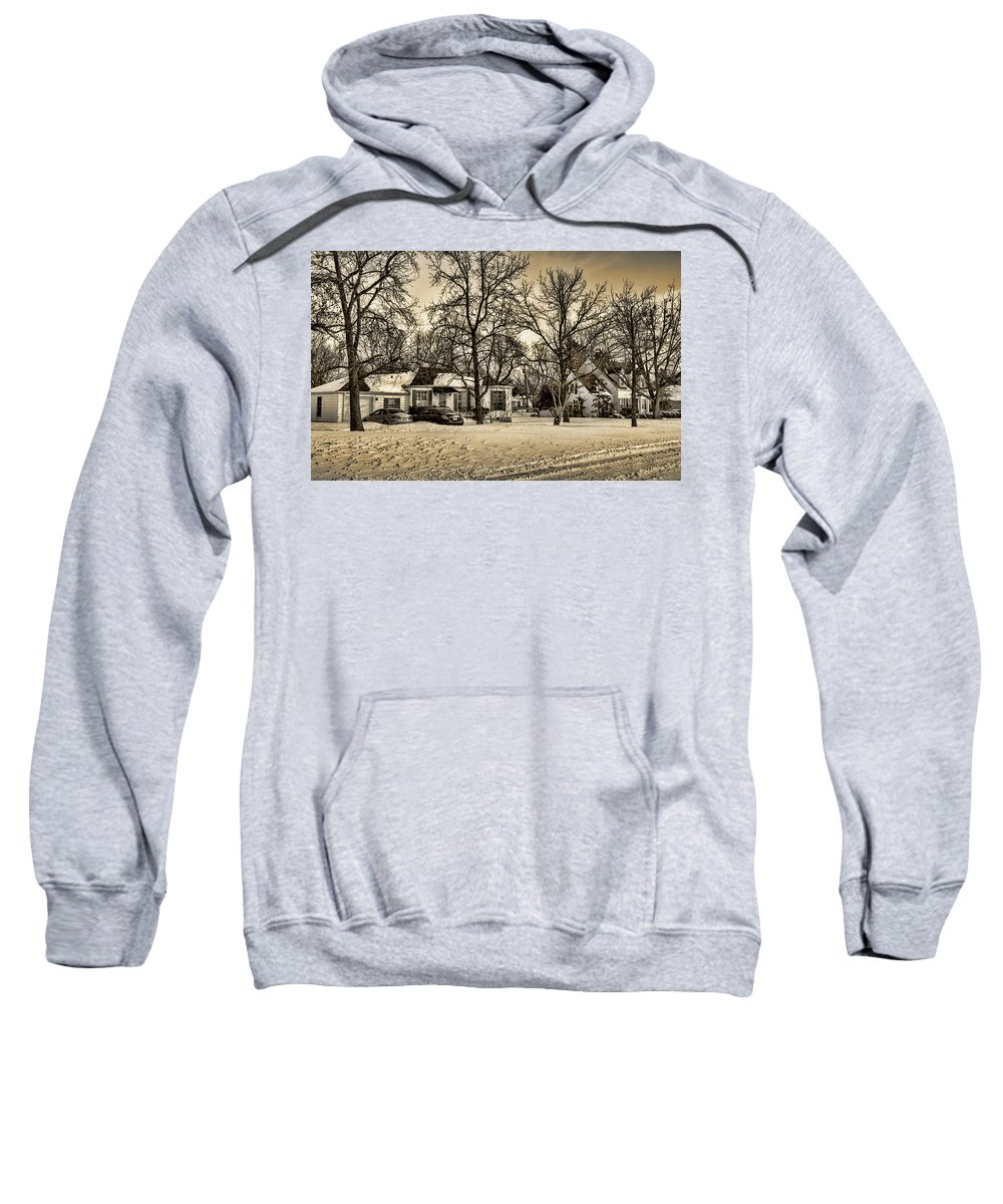 Winter Sweatshirt featuring the photograph Winter Snow by Ricky Barnard