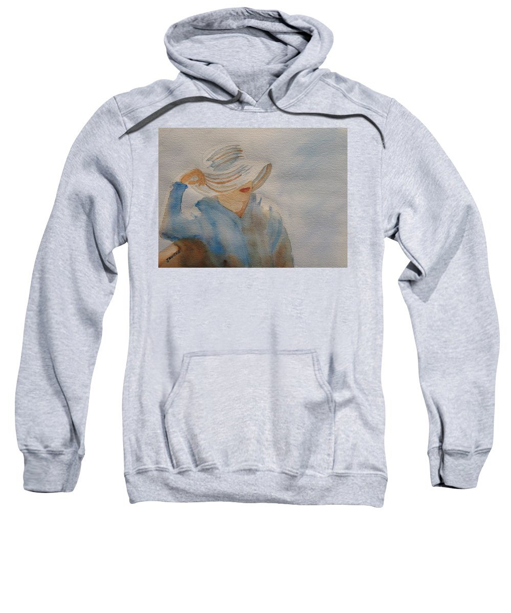 Girls Sweatshirt featuring the painting Winter Sun I by Jenny Armitage
