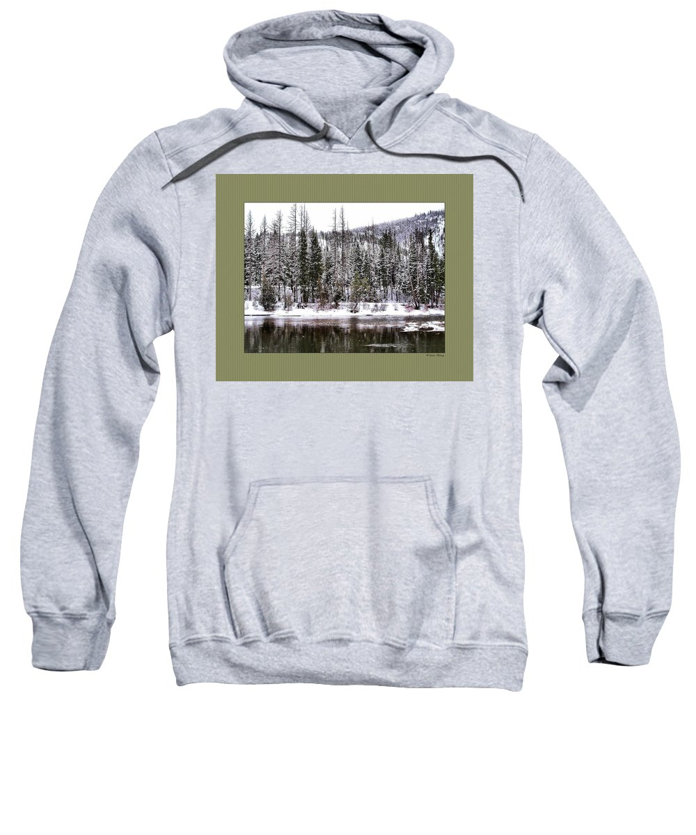 Montana Sweatshirt featuring the photograph Winter Trees by Susan Kinney
