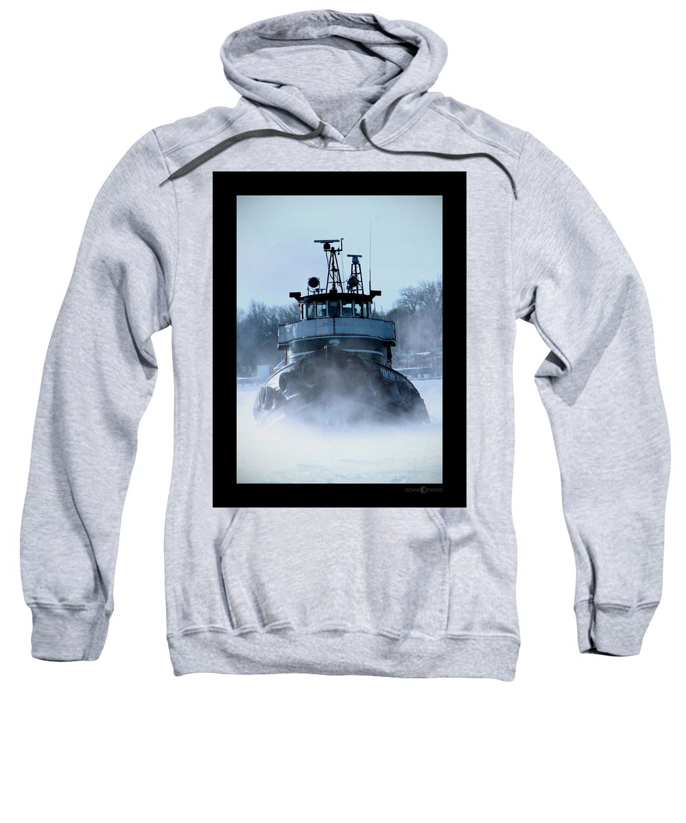 Tug Sweatshirt featuring the photograph Winter Tug by Tim Nyberg