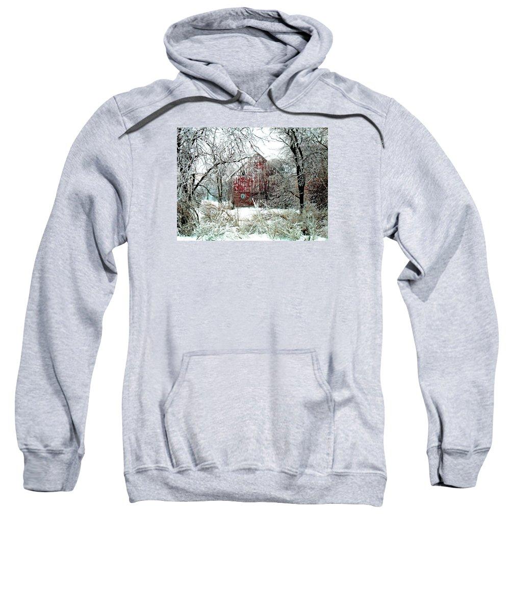 Christmas Sweatshirt featuring the photograph Winter Wonderland by Julie Hamilton