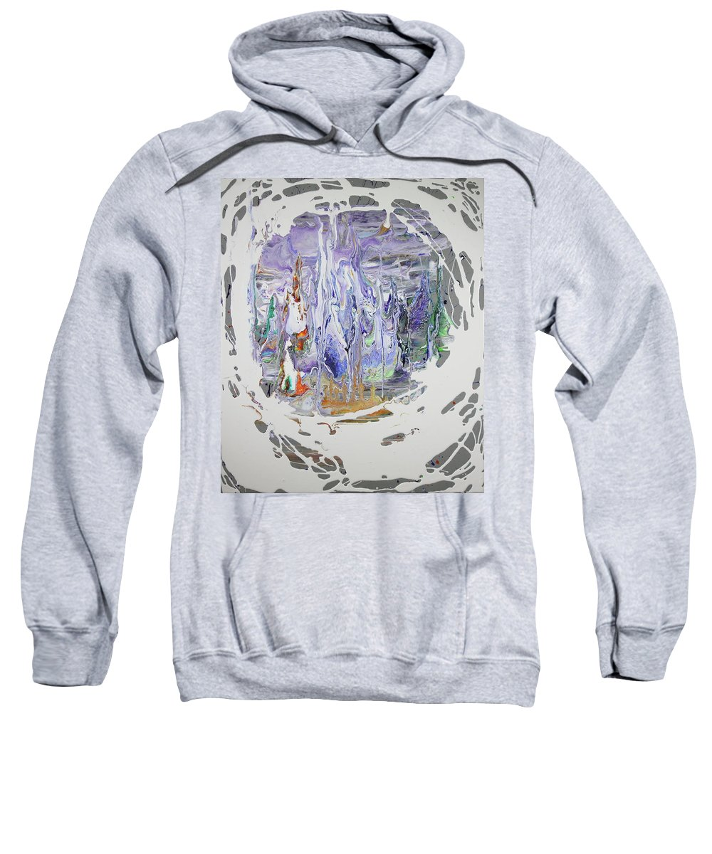 Ice Sweatshirt featuring the painting Ice Castle by Madeleine Arnett