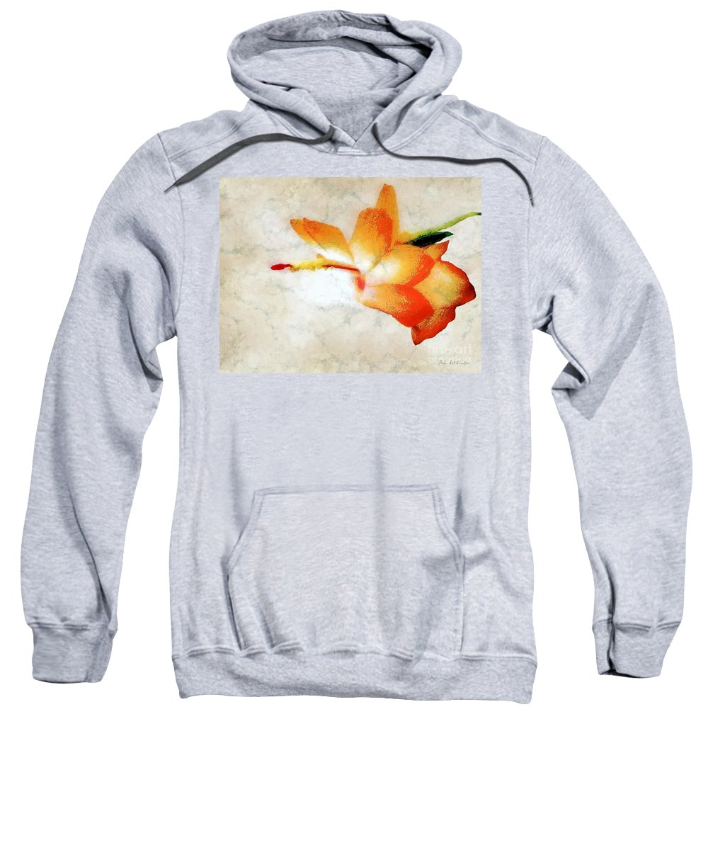 Christmas Cactus Sweatshirt featuring the painting Winterbloom by RC DeWinter