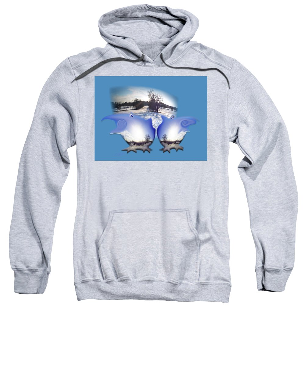 Creatures Sweatshirt featuring the photograph Winterland by Charles Stuart