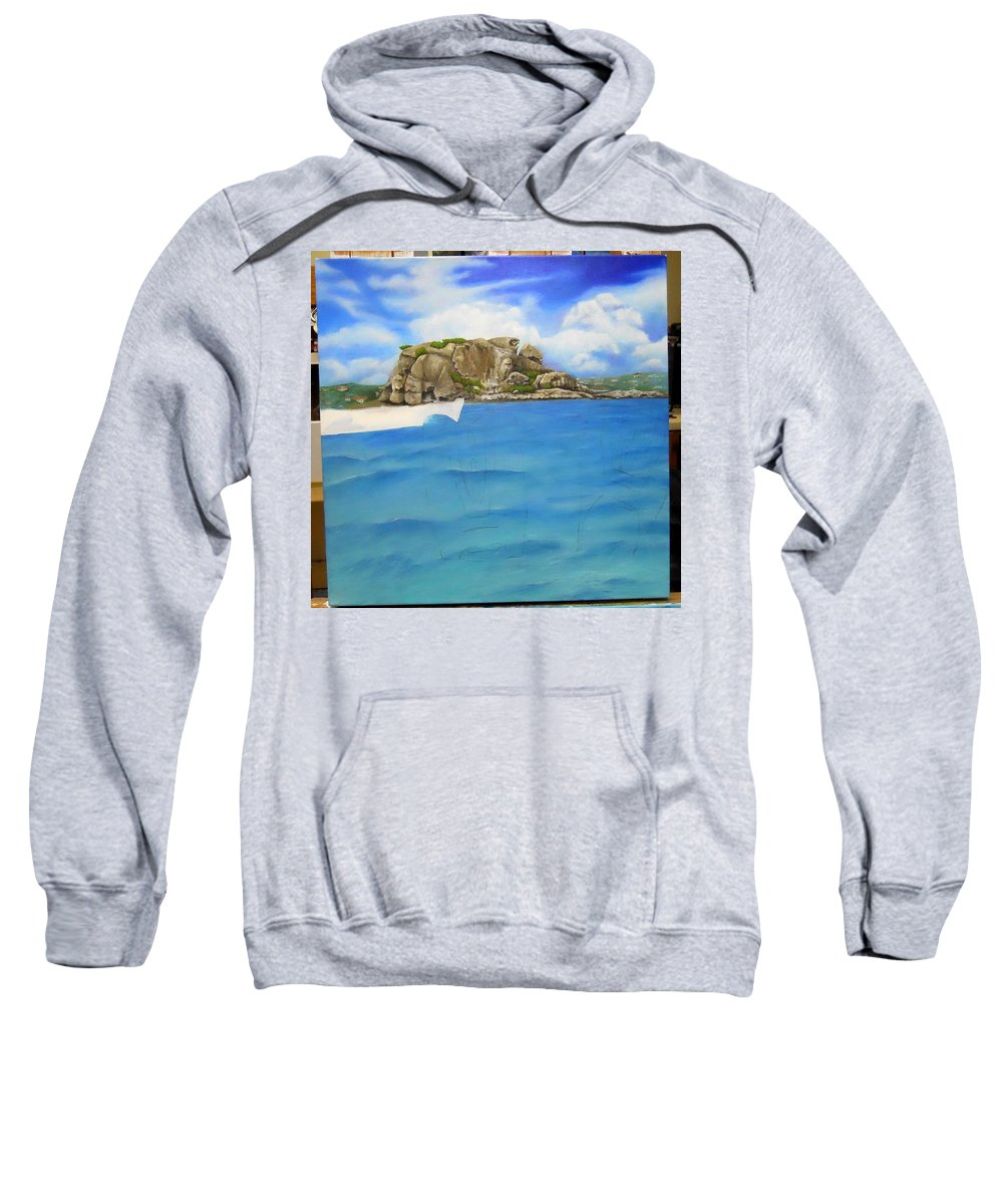 Sweatshirt featuring the painting Wip- Creole Rock 02 by Cindy D Chinn