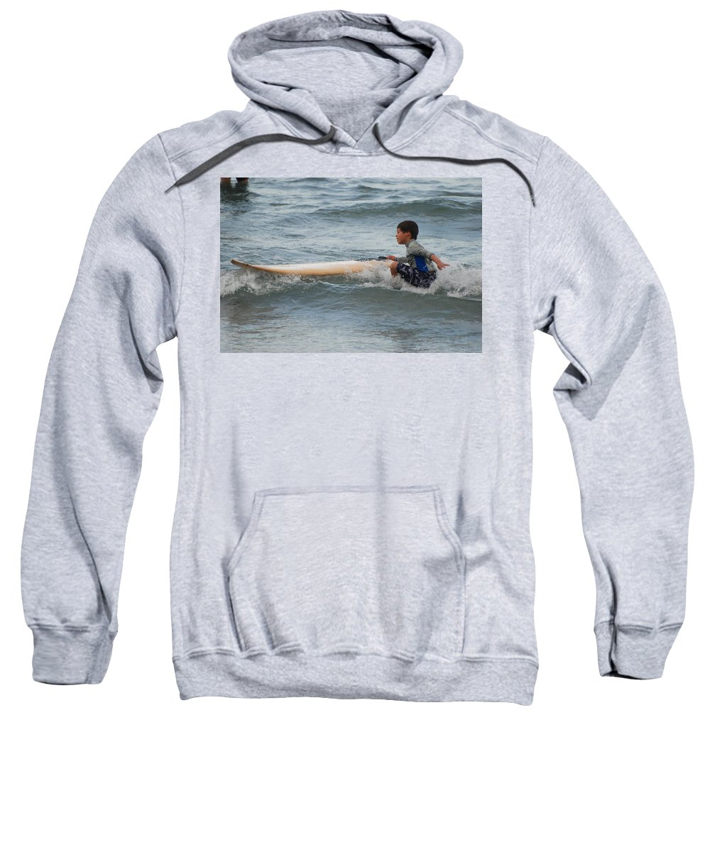 Beach Sweatshirt featuring the photograph Wipe Out by Rob Hans