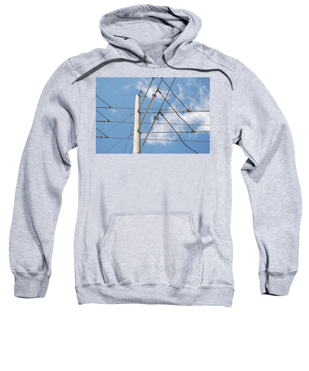 Sky Sweatshirt featuring the photograph Wired Sky by Rob Hans