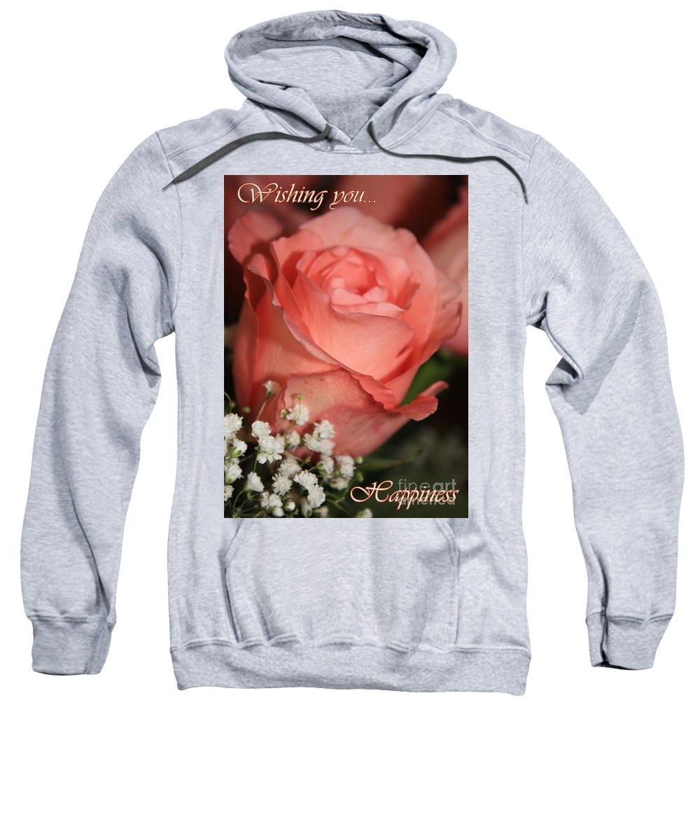 Card Sweatshirt featuring the photograph Wishing You Happiness Card by Carol Groenen