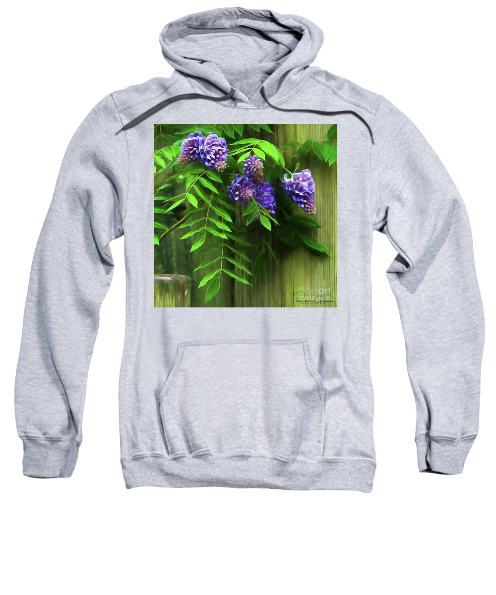 Flower Sweatshirt featuring the photograph Wisteria 2 by Rene Gignac