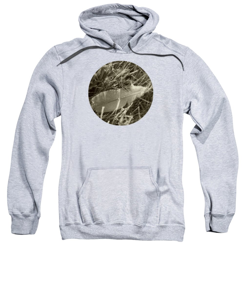 Feather Sweatshirt featuring the photograph With A Whisper by Mary Wolf