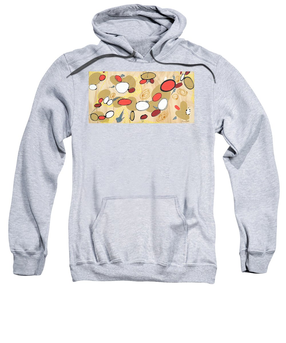 Acrylics Sweatshirt featuring the painting Within My Cells by Paulina Herz