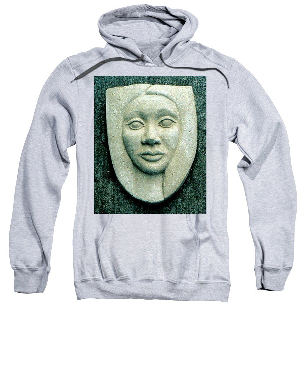 Relief Sweatshirt featuring the relief Without Veils by Madalena Lobao-Tello