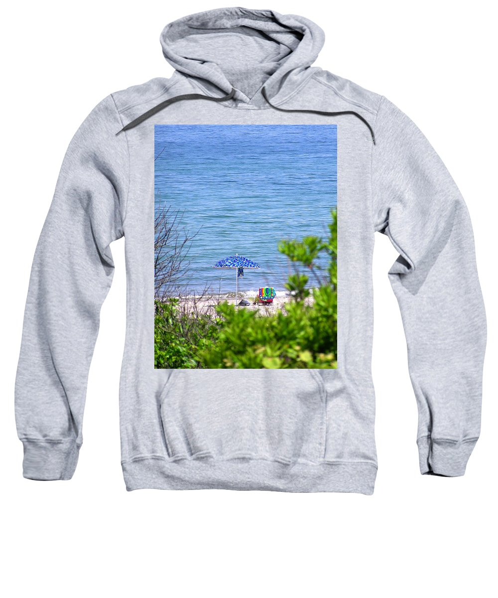 Beachgoer Sweatshirt featuring the photograph Woman On The Beach by Charles Harden