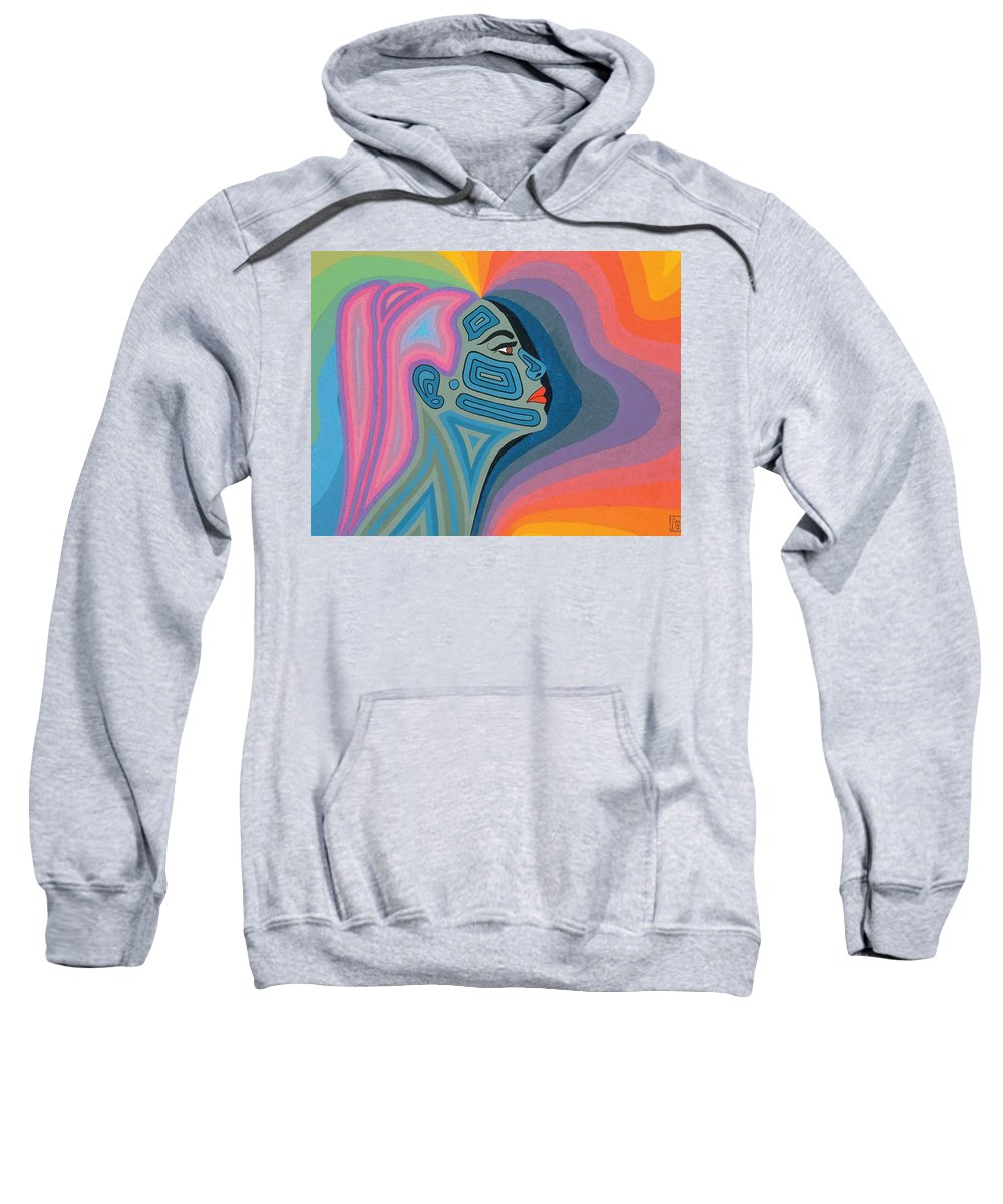 Oil Sweatshirt featuring the painting Woman by Peter Antos