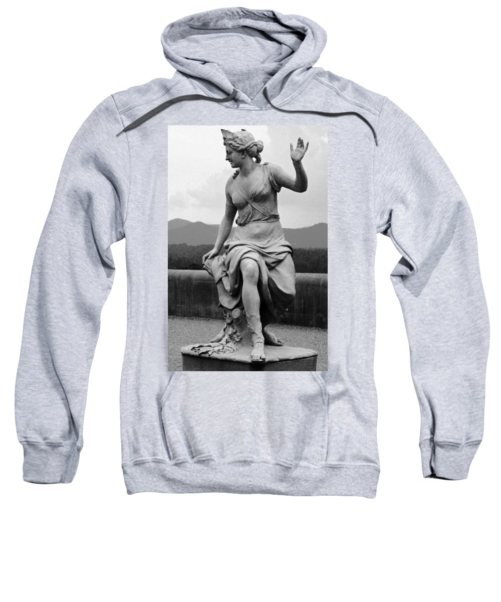 Figurative Sweatshirt featuring the photograph Woman Sculpture Nc by Eric Schiabor