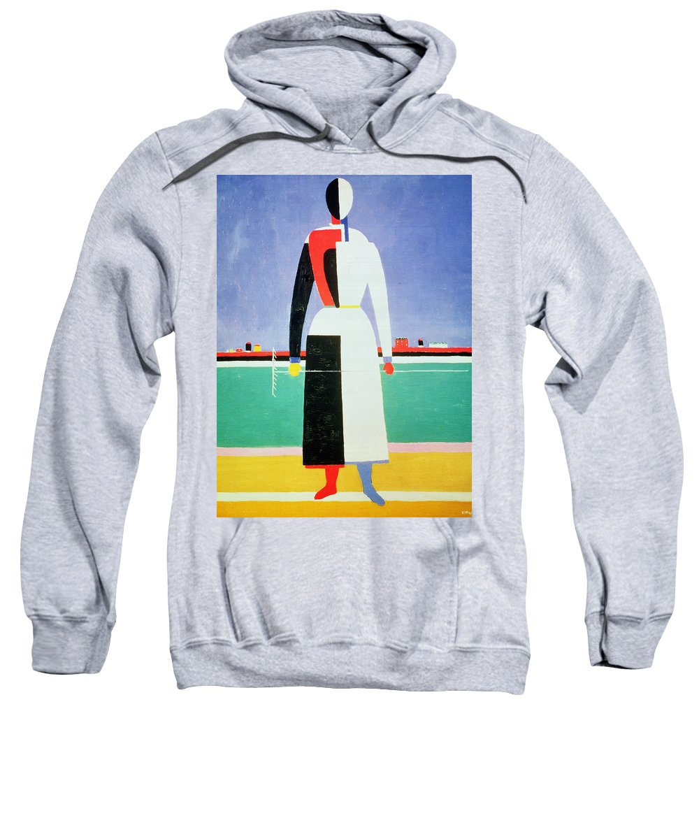 La Femme Au Sweatshirt featuring the painting Woman With A Rake by Kazimir Severinovich Malevich