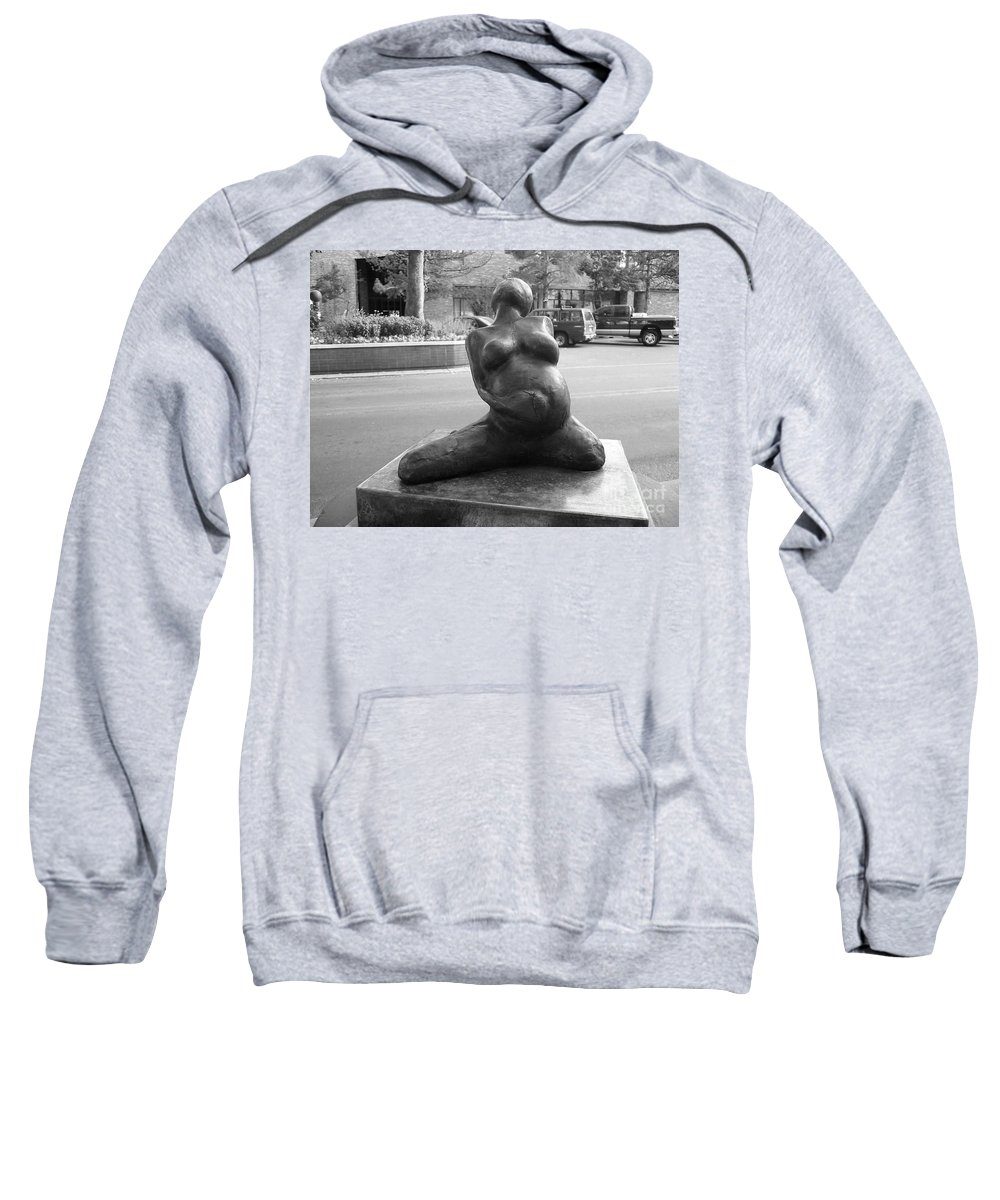 Female Torso Sculpture Grand Junction Sweatshirt featuring the photograph Womans Torso Sculpture Grand Junction Co by Tommy Anderson