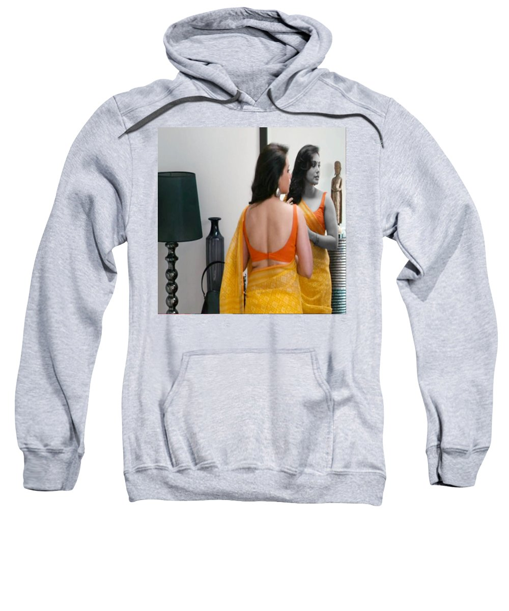 Coiffeur Sweatshirt featuring the mixed media Women Grooming Obsession Esthticienne Beautician Esthticien Fashion Couture by Navin Joshi