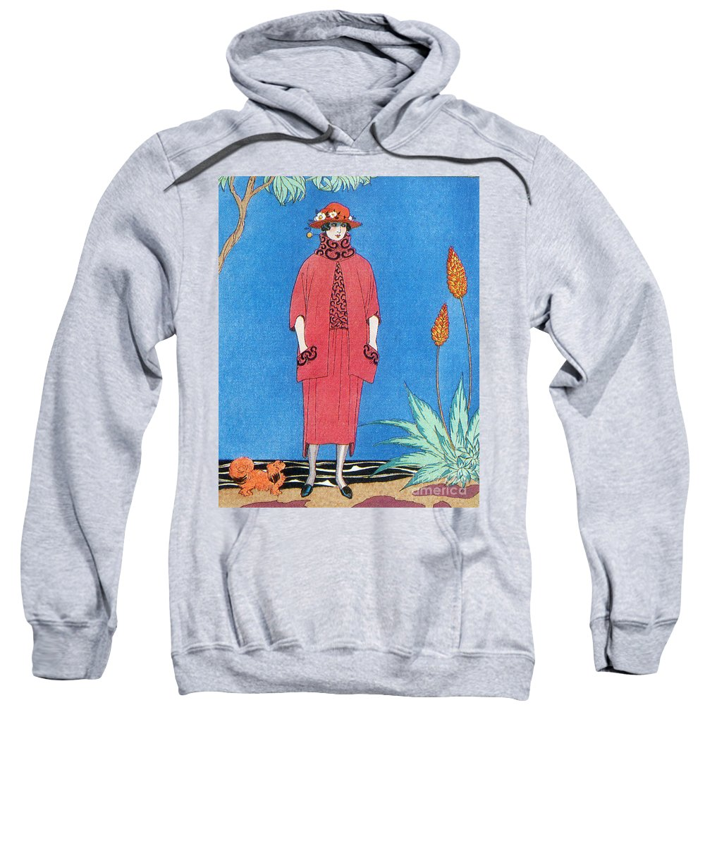 Fashion Sweatshirt featuring the photograph Womens Fashion, George Barbier, 1921 by Science Source