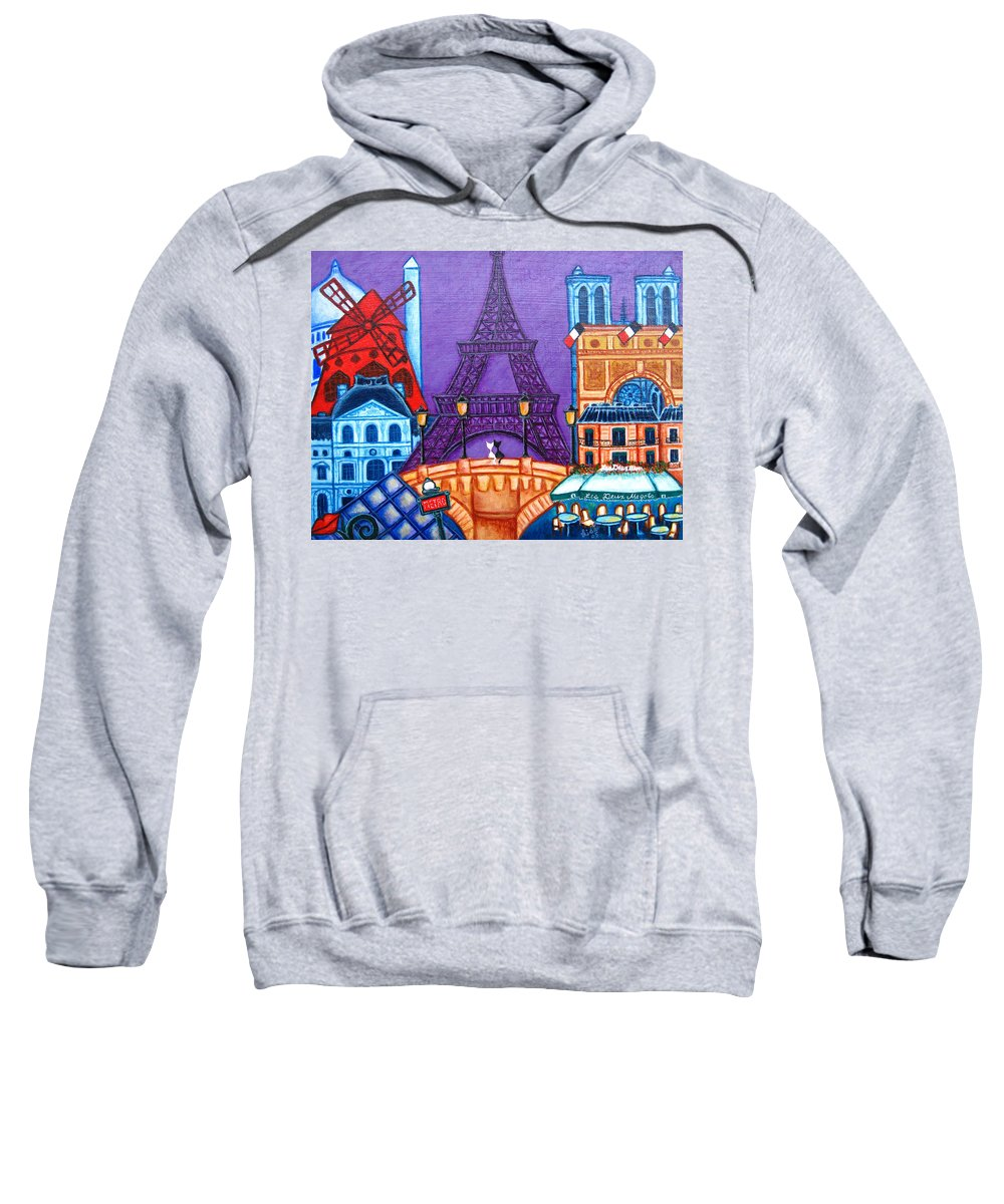 Paris Sweatshirt featuring the painting Wonders Of Paris by Lisa Lorenz