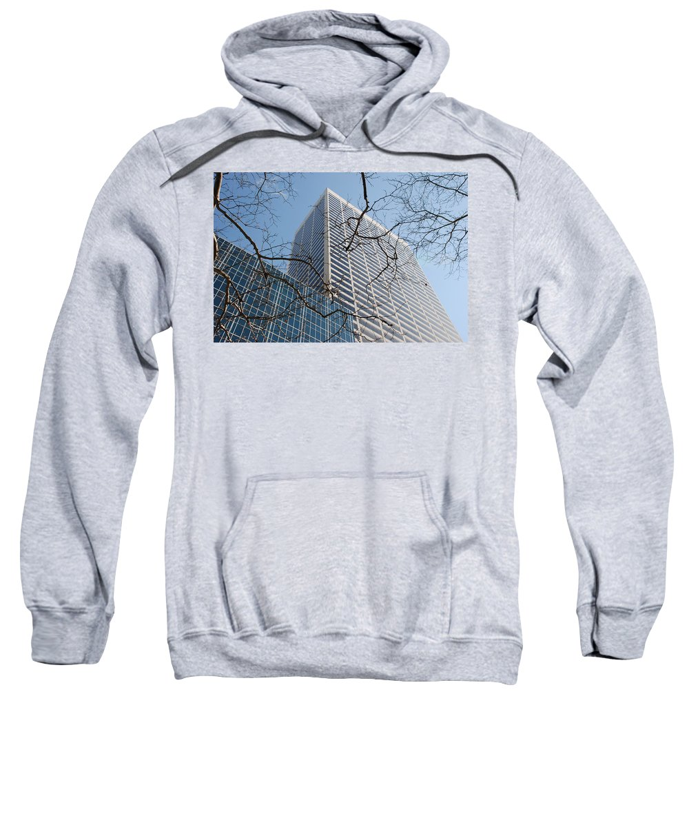 Architecture Sweatshirt featuring the photograph Wood And Glass by Rob Hans