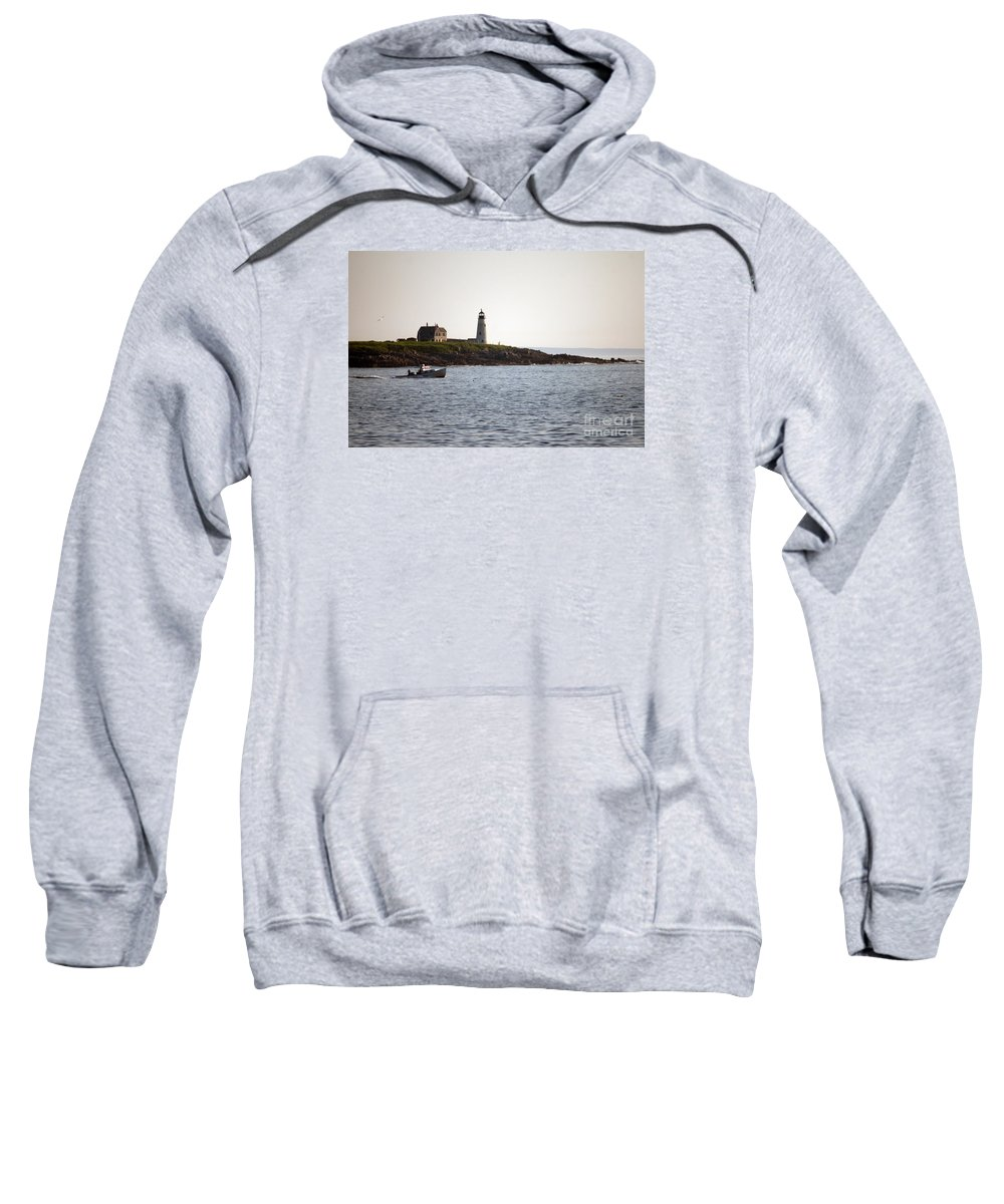 Wood Sweatshirt featuring the photograph Wood Island Lighthouse 3 by Ray Konopaske