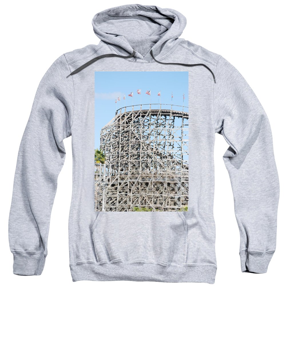 Pop Art Sweatshirt featuring the photograph Wooden Coaster by Rob Hans