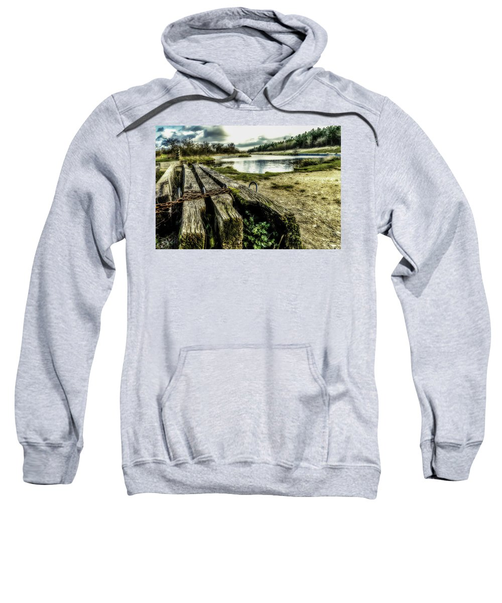 Canal Sweatshirt featuring the photograph Woodside by Nick Bywater