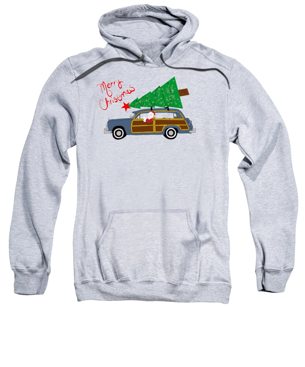 Woody Christmas Sweatshirt featuring the digital art Woody Christmas by Priscilla Wolfe