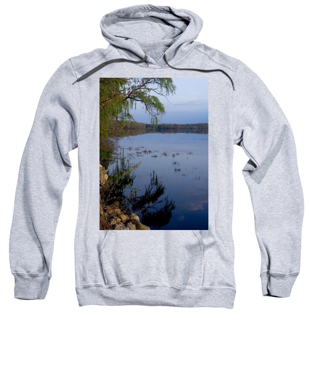 Sunrise Sweatshirt featuring the photograph Worden's Pond 3 by Steven Natanson