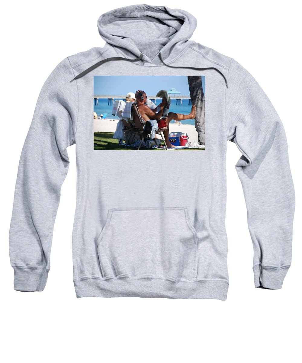 Man Sweatshirt featuring the photograph Working Hard by Rob Hans