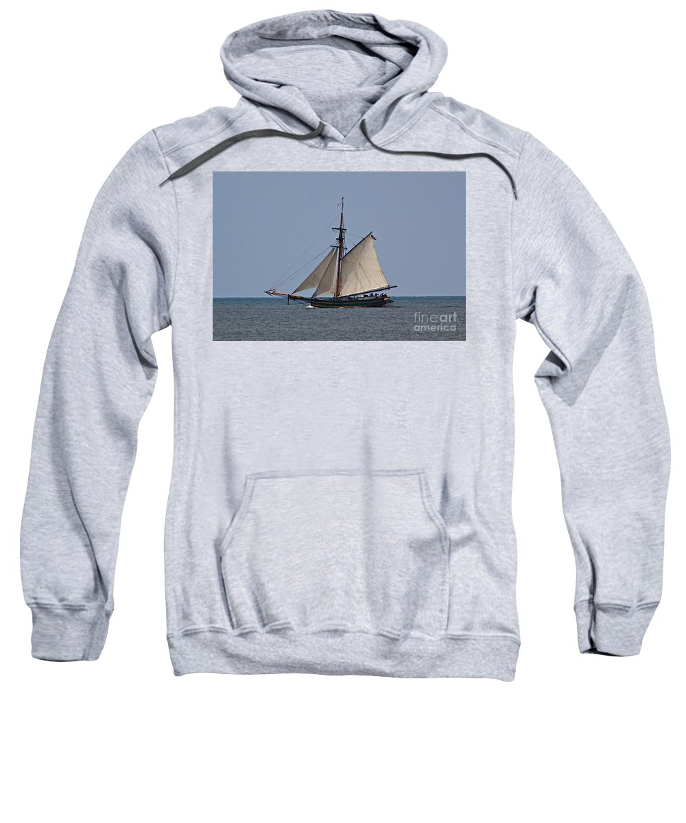 Related Tags: Boats Artwork Sweatshirt featuring the photograph Working The Wind by Robert Pearson