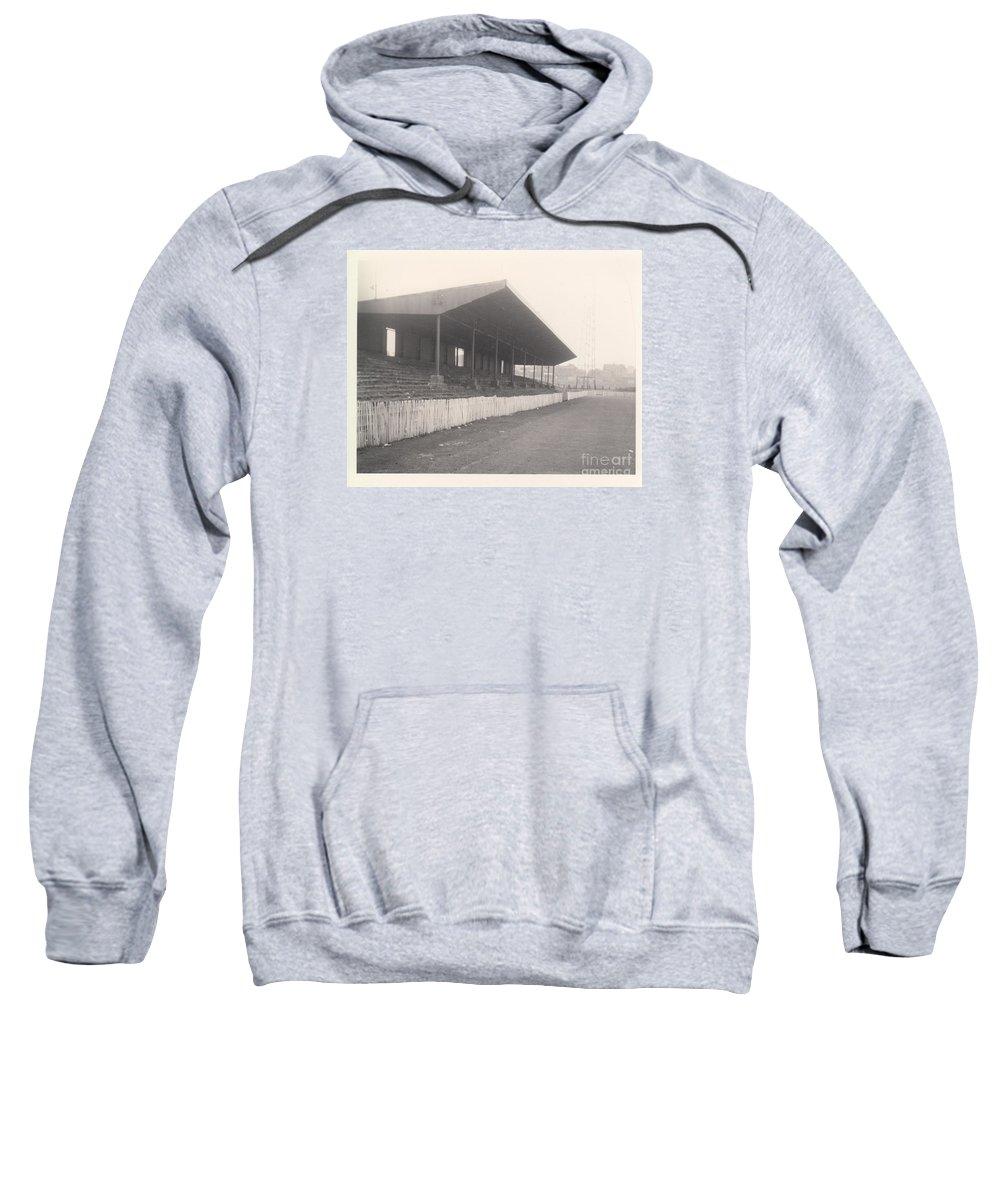 Sweatshirt featuring the photograph Workington - Borough Park - Popular Side 1 - 1960s by Legendary Football Grounds