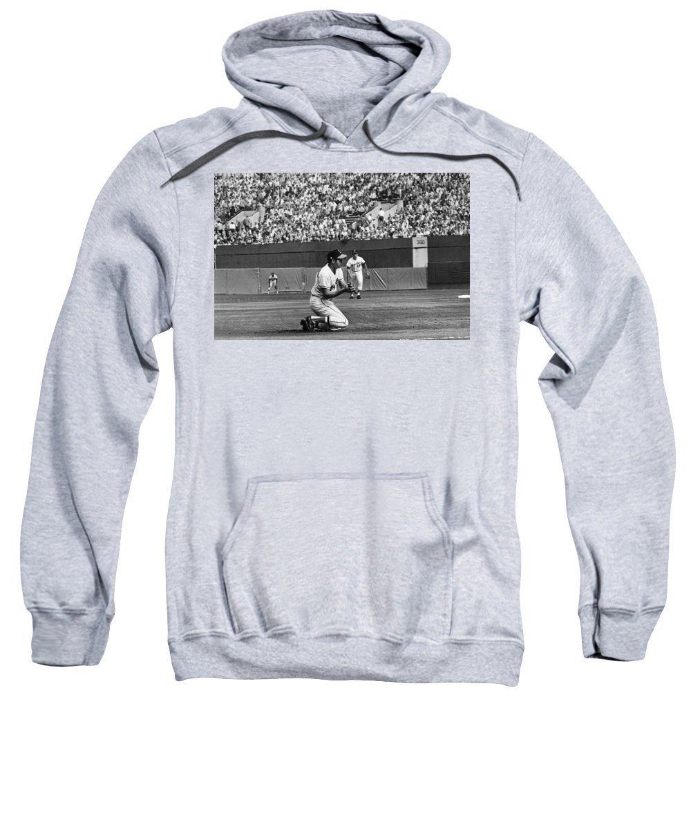 1970 Sweatshirt featuring the photograph World Series, 1970 by Granger