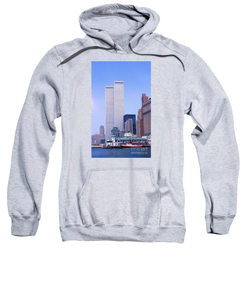 World Trade Center Towers Skyline Sweatshirt featuring the photograph World Trade Center by Bob Bennett