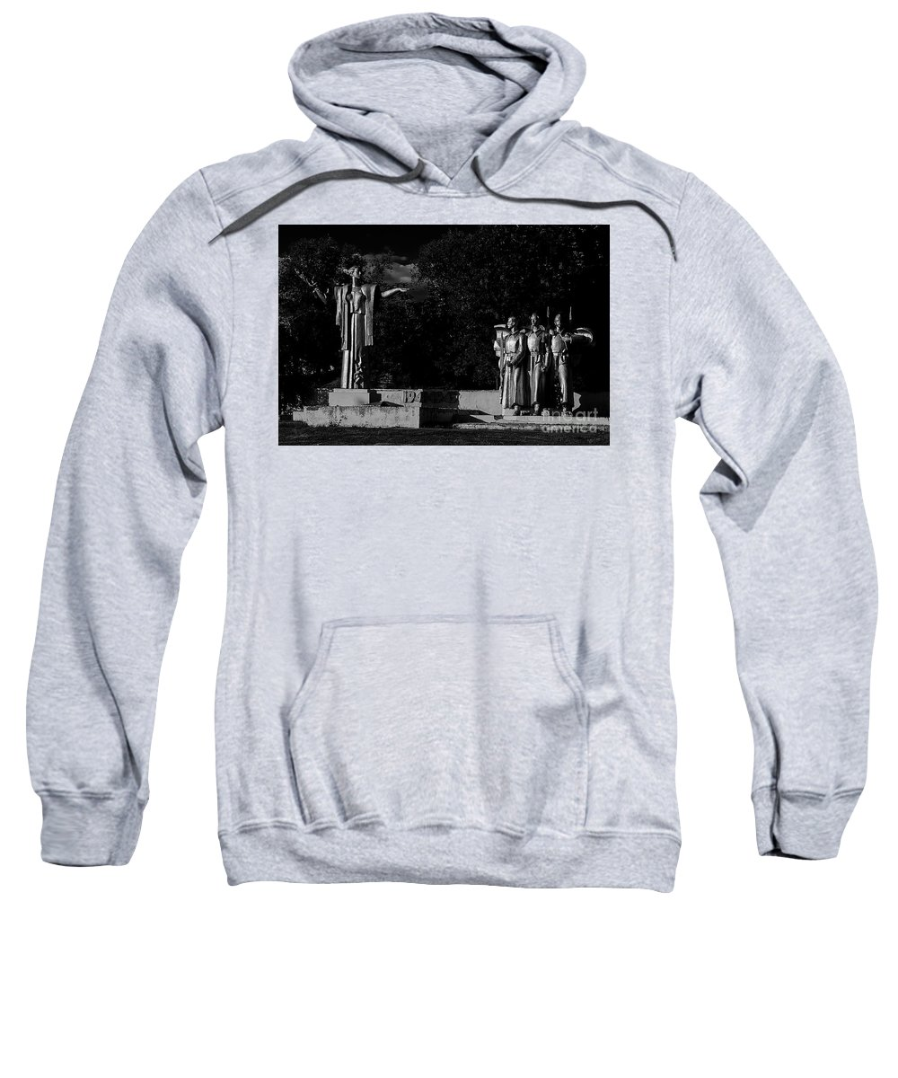Monument Sweatshirt featuring the photograph World War II by Christian Hallweger