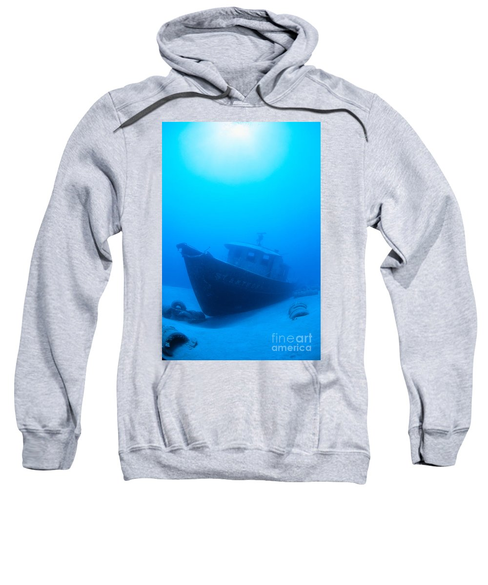 Ancient Sweatshirt featuring the photograph Wreck Of The St. Anthony by Dave Fleetham - Printscapes
