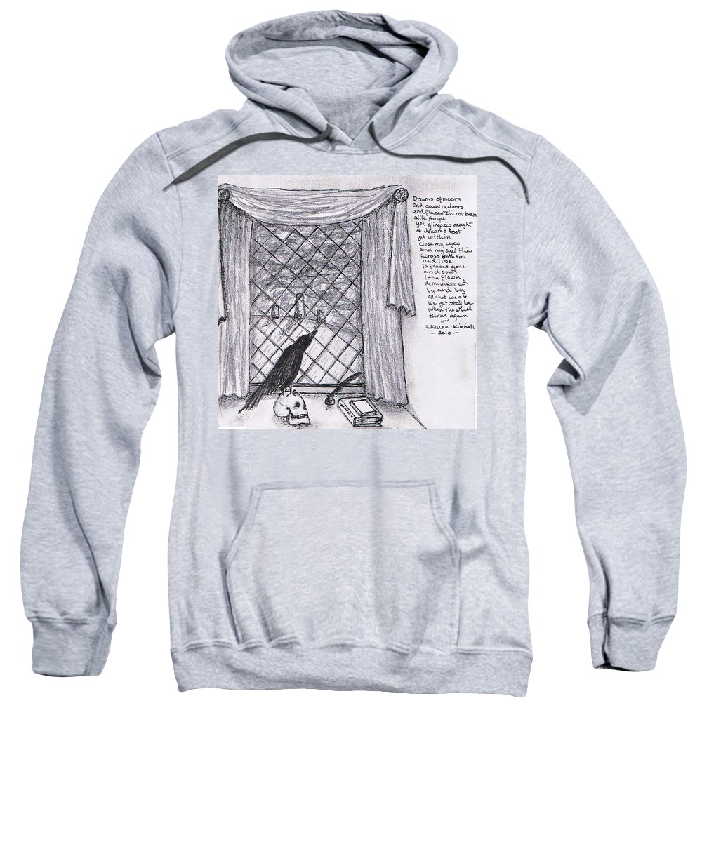 Fantasy Sweatshirt featuring the drawing Writer's Veiw by Janice T Keller-Kimball