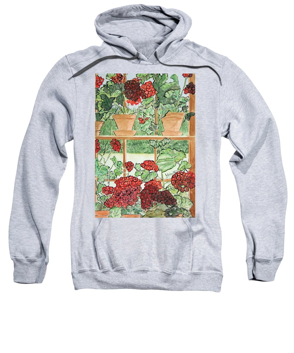 Wyeth Sweatshirt featuring the painting Wyeth's Maine Inside Out by Larry Wright