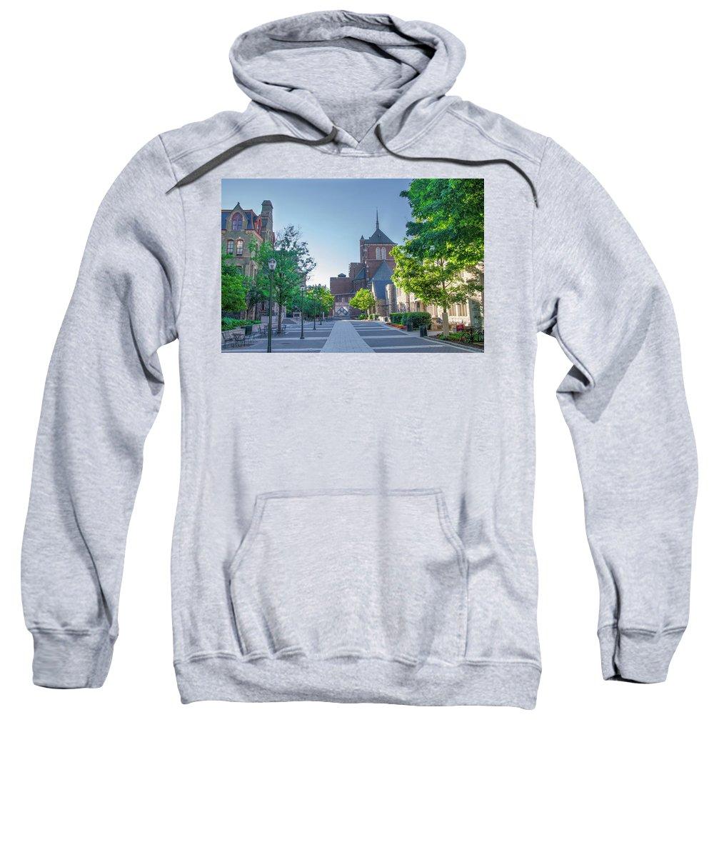 Wynn Sweatshirt featuring the photograph Wynn Commons - University Of Pennsylvania by Bill Cannon
