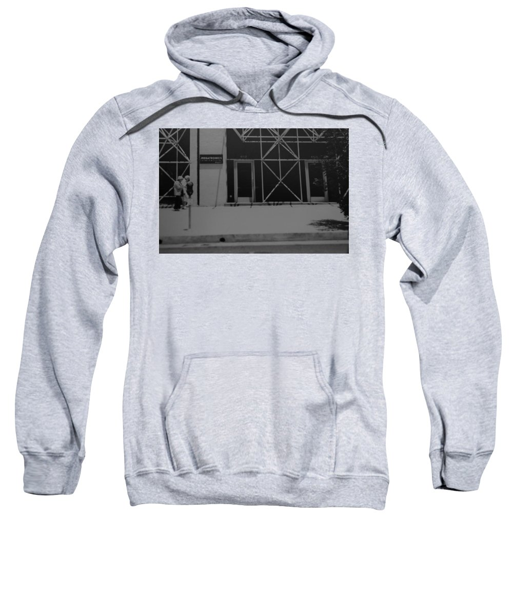 Black And White Sweatshirt featuring the photograph X by Rob Hans