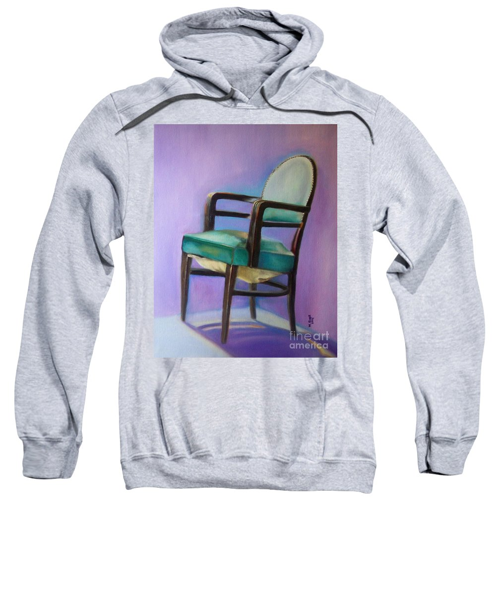 Still Life Sweatshirt featuring the painting Ye Who Are Weary by Marlene Book
