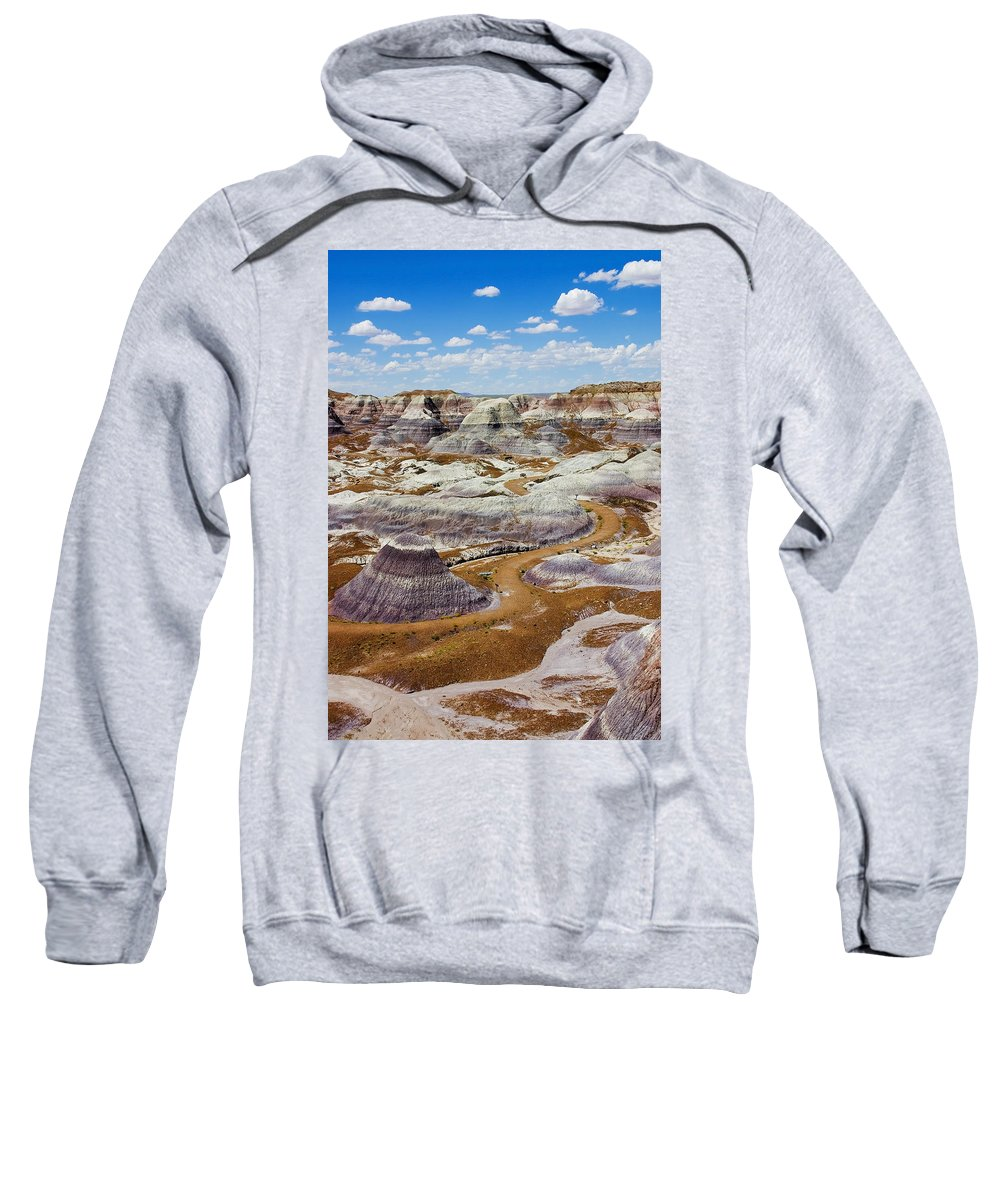 Painted Desert Sweatshirt featuring the photograph Yea Though I Walk by Skip Hunt