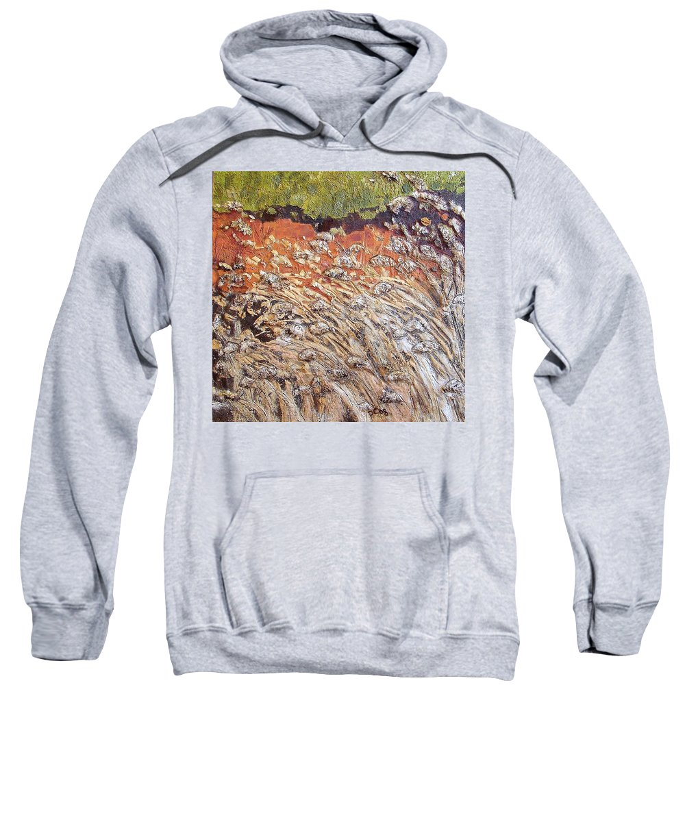 Abstract Sweatshirt featuring the painting Yearning by Piety Choi