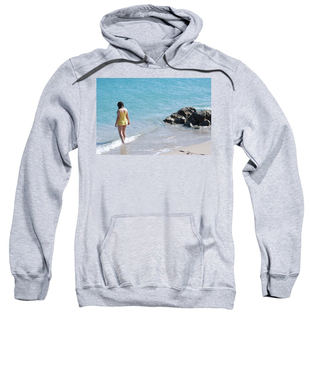 Sea Scape Sweatshirt featuring the photograph Yellow And Blue by Rob Hans