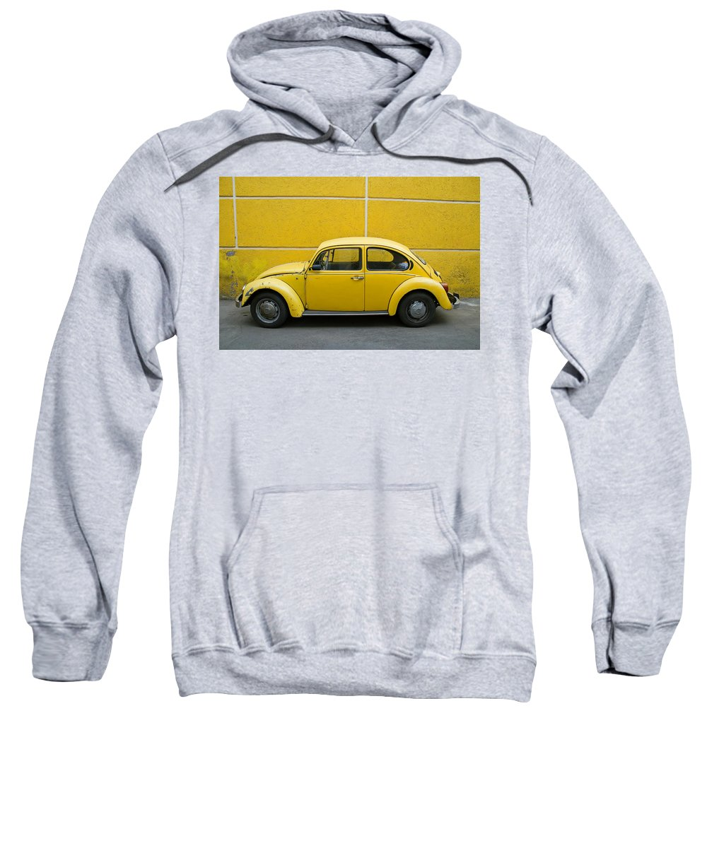 Yellow Sweatshirt featuring the photograph Yellow Bug by Skip Hunt